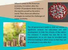 2020 Infographic by Marcus Debaise Recommends Plausible Solutions to Save the US Economy amid COVID-19